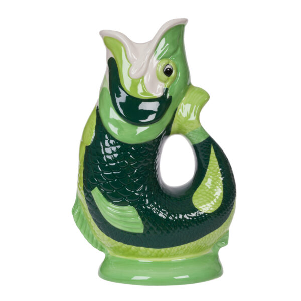 Hand Painted Green Gluggle Jug